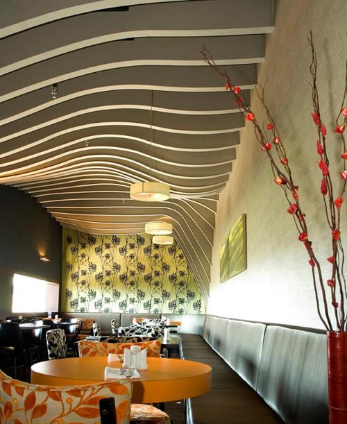 Interior design of rosso restaurant in ramat yishay israel