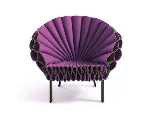 THE MOST STUNNING CHAIRS TO BE OBESSED WITH design lines blog felt chair by new york studio dror for cappellini