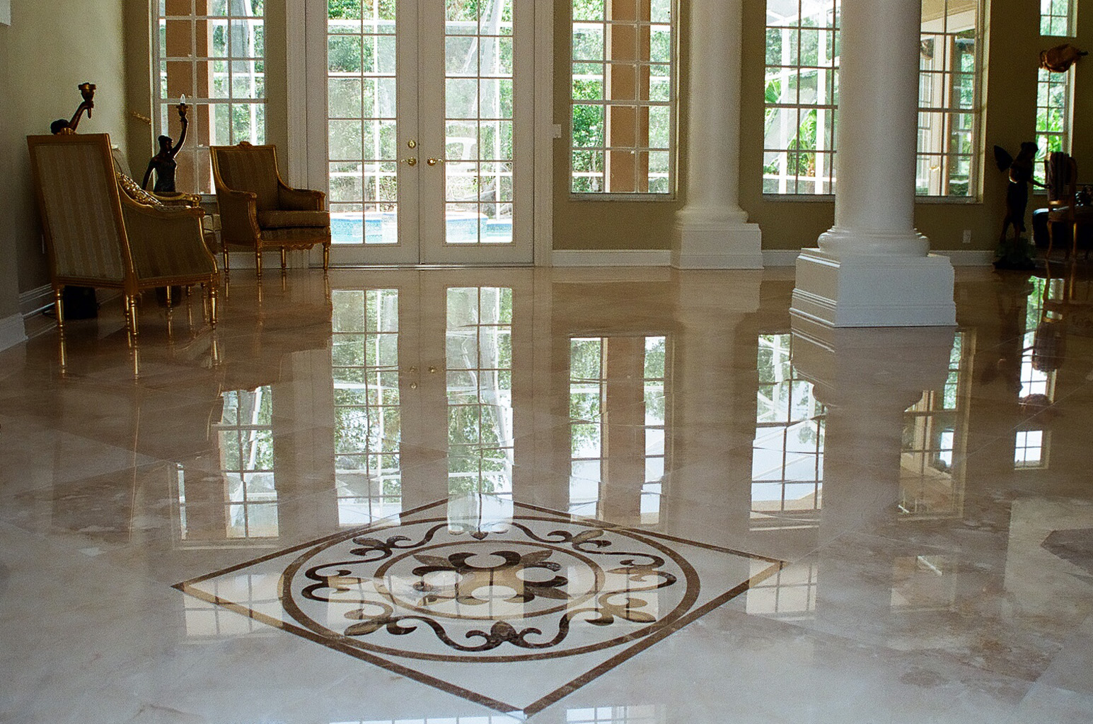 Marble flooring ivana al rousan for White marble floor designs