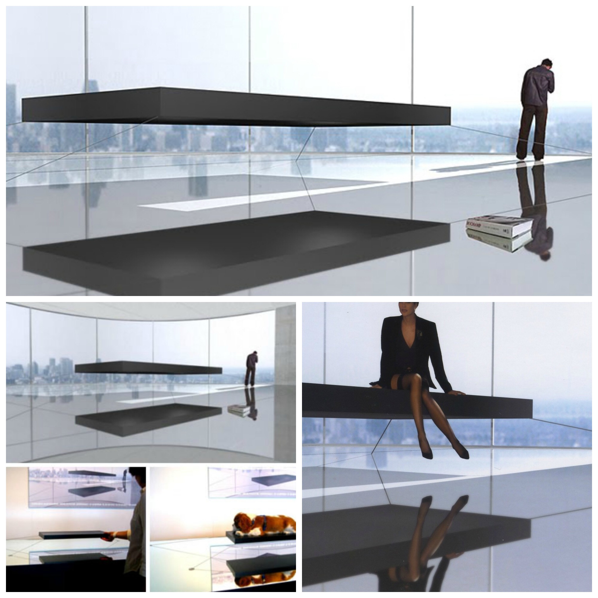 By ivana radovanovic al rousan interior design for Magnetic floating couch